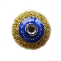 Tomcat 100mm Crimped Brass Wire Bevel Brush