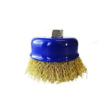Tomcat 75mm Crimped Brass Wire Cup Brush