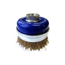 Tomcat 75mm Crimped BCTC Wire Cup Brush with Skirt